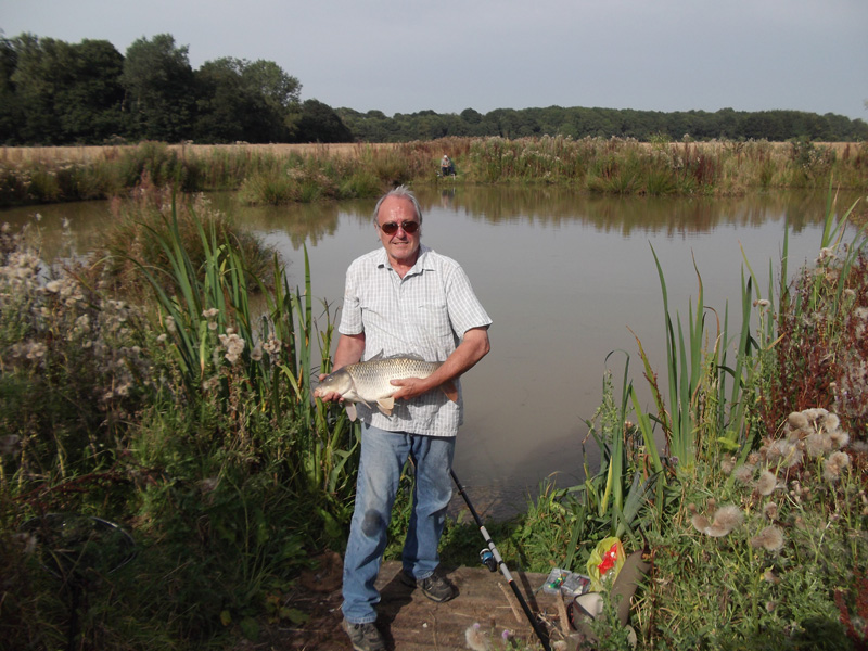 One of the fishing ponds at Church Farm North Burlingham Norfolk